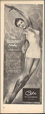 1950's Vintage ad for Cole of California Swim Suits Esther Williams ( 032117)