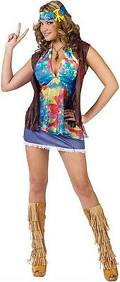 Summer of Love Adult Hippie Sexy 70s Costume S/M