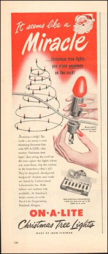 1949 Vintage ad On`A` Lite Corporation, Portlant Oregon Christmas Tree  (103016)