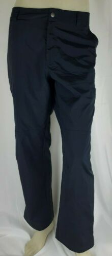 Columbia Men Navy Omni Shade Lightweight Hiking Pants Regular Fit Size 38x30
