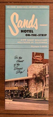 Sands Hotel - Sunset Blvd - Hollywood, Ca. vintage brochure & room rates