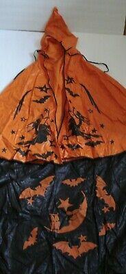 VINTAGE WITCH BATS HALLOWEEN COSTUME SKIRT CAPE COLLEGEVILLE ? 1940's ?