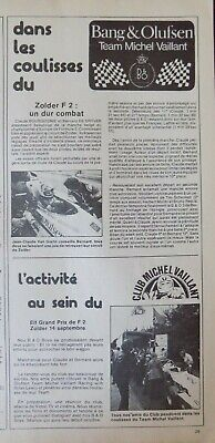 Publicité presse // Bang & Olufsen - team Michel Vaillant - F2
