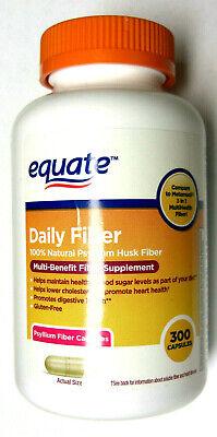 Natural Psyllium (Equate 100% Natural Psyllium Husk Daily Fiber 300 Capsules Pills Laxative )