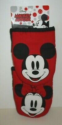 DISNEY MICKEY & MINNIE MOUSE MINI HOT PAD OVEN MITT SET BEST BRANDS 2018