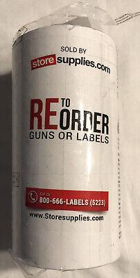 8 Rolls Genuine Avery Monarch 11361138 Plain White Price Gun Labels