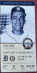 6-19-99 ATHLETICS AT TIGERS BASEBALL TICKET STUB - LAST SEASON AT TIGER STADIUM