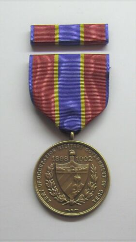 1898 U.S. Army of Cuban Occupation Medal with RIBBON
