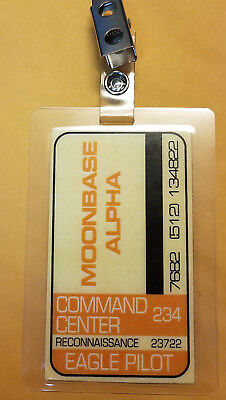 Space 1999 Id Badge-Moonbase Alpha Command Center Eagle Pilot costume cosplay