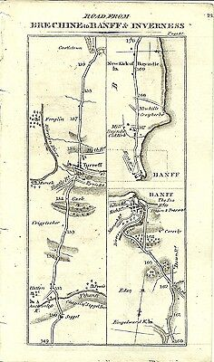 Antique map, Brechine to Inverness (3)