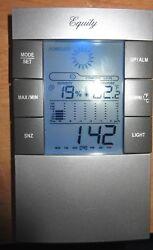 EQUITY BY LA CROSSE Indoor Digital Alarm Wall Clock with Temperature, Humidity