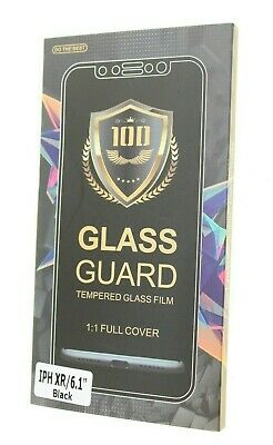 HD CRYSTAL CLEAR TEMPERED GLASS SCREEN PROTECTOR APPLE I PHONE XR BLACK  Screen Protector Black Crystal