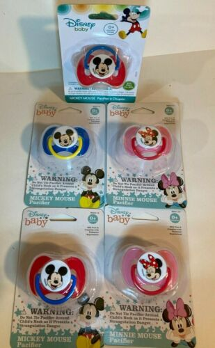 LOT OF 5 DISNEY MICKEY MINNIE MOUSE BABY PACIFIER BPA FREE NEW FREE SHIPPING