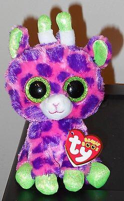 "Ty Beanie Boos ~ GILBERT the 6"" Giraffe ~ Stuffed Plush Toy (NEW) 2017 Design"