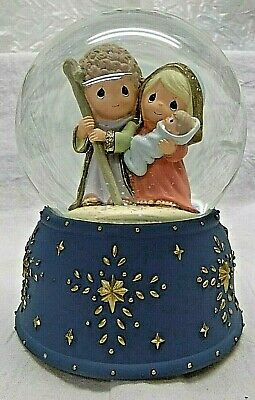 Precious Moments Nativity Waterball Snow Globe Star Base Music Box O HOLY NIGHT