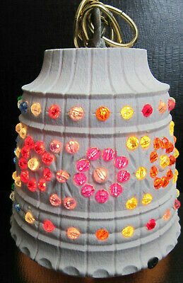Vtg LAWNWARE 235 USA Hanging Blowmold Multi-color Beaded Light RV Patio 5.5""