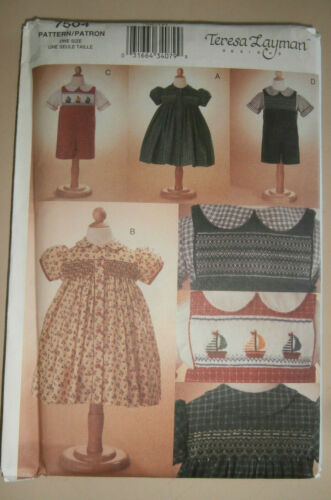 Vogue 7504 smocking pattern - never used -Teresa Layman design, size 1 thru 4