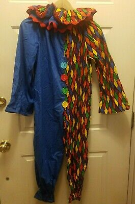 Halloween Outfits Homemade (Vintage Homemade Clown Halloween Costume Outfit Child Kids Blue Red)