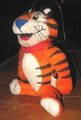 "TONY THE TIGER PLUSH STUFFED ANIMAL KELLOGS FROSTED FLAKES 9"" H 1997 KELLOG CO"