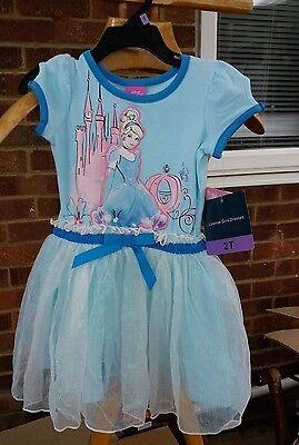 Official License DISNEY CINDERELLA Girls Tutu Dress - Aqua Mist Age 2