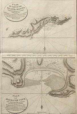 Samoa c.1803 Plan of Maouna & Massacre Cove - La Pérouse Expedition 1785-88