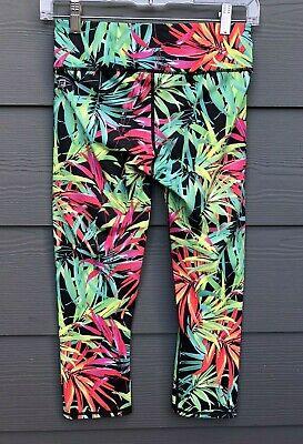 Fabletics Women's Multi Colored 3/4th Crop Active Leggings Size XXS