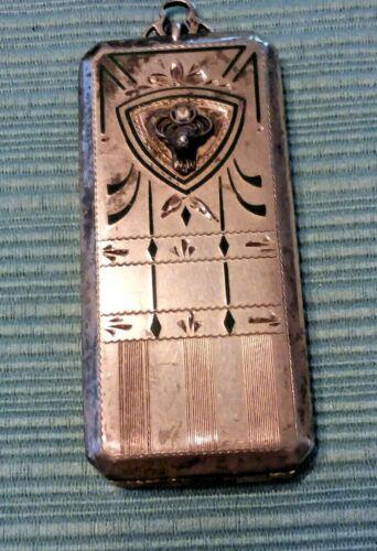 BPOE Elks Sterling Silver Membership Card Case Pendant Or Fob
