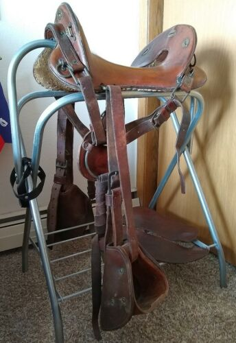 Antique US McClellan Cavalry Saddle - 11.5 Seat