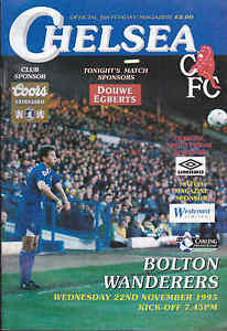 1995-96-CHELSEA-V-BOLTON-WANDERERS-22-11-1995-Premiership-Very-Good