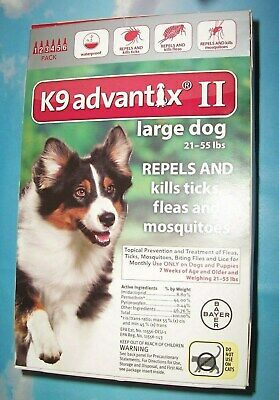 6 Pack Bayer K9 Advantix II Flea & Tick Spot-On Treatment Large Dogs RED BOX Advantix Red Flea Treatment
