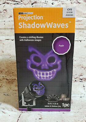 Halloween Projection Shadow Waves Laser Projector Creepy Scary Face Purple Light - Halloween Shadow Projector