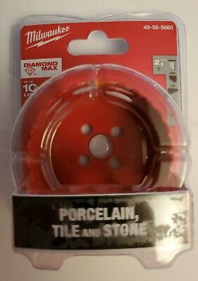 Milwaukee - 2-12 Diamond Plus Tile Stone Hole Saw Bit.