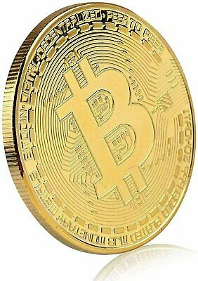 1Pcs Gold Bitcoin Coins Commemorative 2020 New Collectors Gold Plated Bit Coin Coins