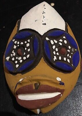 Mask Reduced Terracotta Africa Ethnic Cameroon Bamileke Pigment Naturals