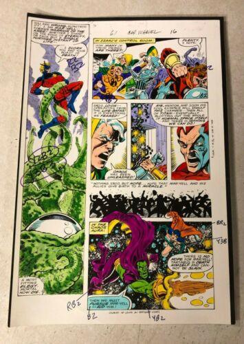 CAPTAIN  MARVEL #61 art color guide 1979 battles TARTARUS DRAX CHAOS EROS