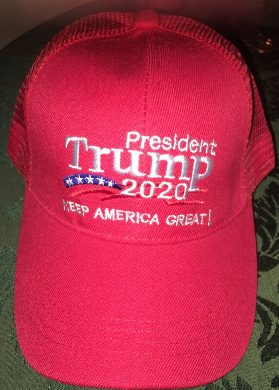 President Trump 2020 Keep America Great! Hats Ball Cap Red Mesh Back