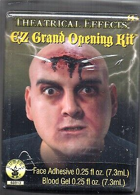 EZ Grand Opening Makeup Kit Complete with blood and adhesive. Halloween