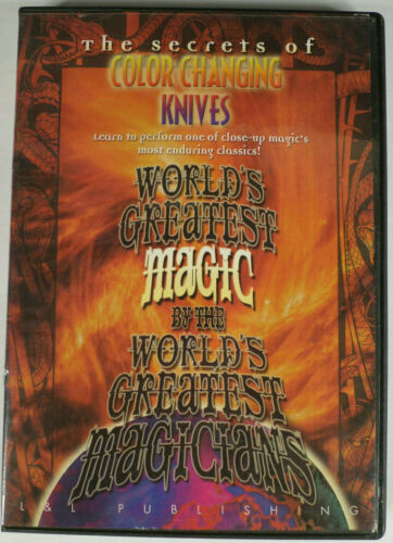 DVD w/ 5 Great Color Changing Knives Routines By Professional Magicians Secrets