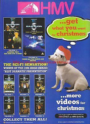 "Babylon 5 ""Sci-Fi Sensation"" HMV 1997 Magazine Advert #7167"