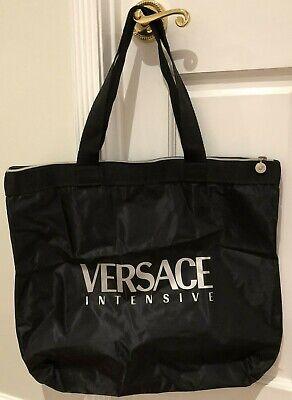 Vintage Versace Intensive Black Duffle / Tote Bag