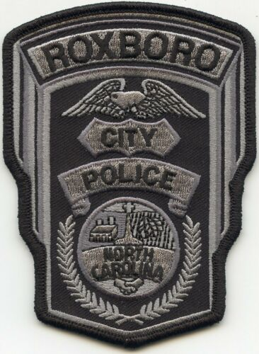 ROXBORO NORTH CAROLINA NC subdued CITY POLICE PATCH