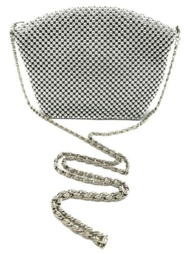 Evening Clutch Metal Beaded Mesh Small Purse Bag Party Bridal