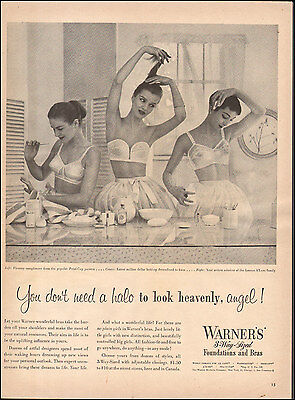 Vintage ad for Warner's 3-way-Sized Foundations and Bra Sexy Model retro  072417