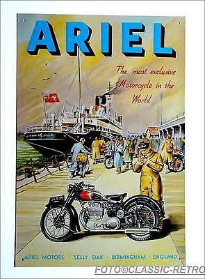 ARIEL Motorrad Oldtimer Vintage classic Bike England Deko Poster Schild *109 .
