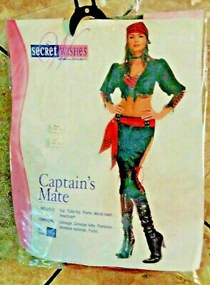 Womens Secret Wishes Pirate Captains Mate  Halloween Costume sz S - Pirate Mate Costume