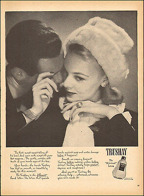 1946 Vintage Ad For Trushay Loton 40S Fashion Photo  112616