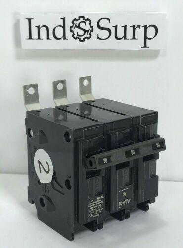 Siemens BL Circuit Breaker 80 amp 240 Volt 3 Pole Cat# NE-7117 Bolt On