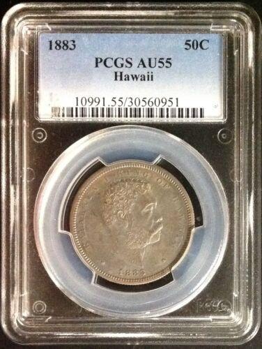 1883 Hawaii Half Dollar - PCGS AU55