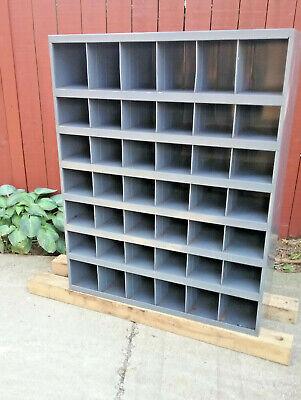 42 Pigeon Hole Storage - Dividered Shelf Metal Cabinet 34w X 12d X 42h