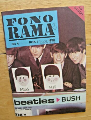 Kate Bush BEATLES Fono Rama #4 Poland magazine 1990 VG condition